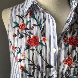 Zara Z1975 Denim high/low long top/tunic